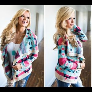 🎉Aztec Tribal Colorful Cozy Cardigan