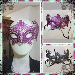 Laser cut plastic masquerade party eyemask 2for$10