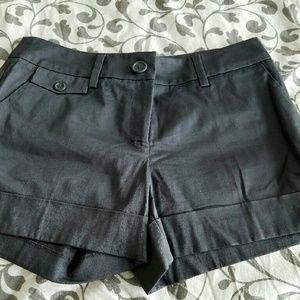 H&M Pants - H&M Charcoal Cuffed Grey Dress Shorts