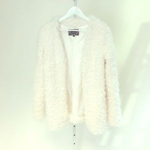 Cream fuzzy jacket