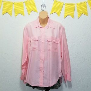 Ralph Lauren Tops - 100% Silk Ralph Lauren Pink Button Down