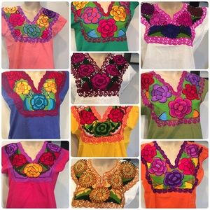 Coming Soon! Mexican Embroidered Top Blouse