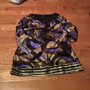 Printed Nicole Miller dress