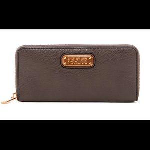 Slim Zip Around Leather Wallet
