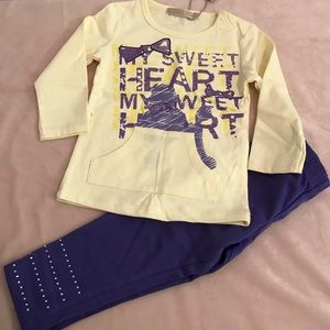Other - lady Q baby girl set 12 mns nwt
