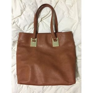 LONDON FOG Leather Shoulder Bag