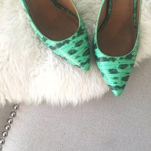 Ann Taylor Shoes - Ann Taylor Snakeskin Slingback Pumps