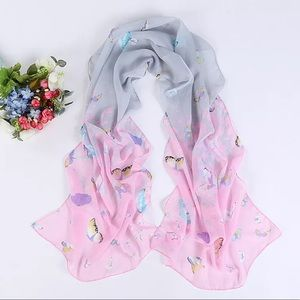 Accessories - 🦋The most adorable Pink Chiffon Butterfly scarf