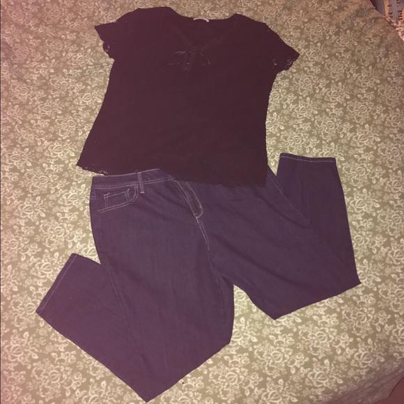 ea23aa13e34e2 Dress Barn Denim - 🎉Sale🎉Women s Jeans and Shirt Outfit!