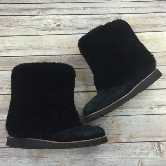 Ugg Fur Fold Over Boots