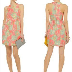 SUNO Dresses & Skirts - SUNO Floral Brocade Racerback Dress -size 0