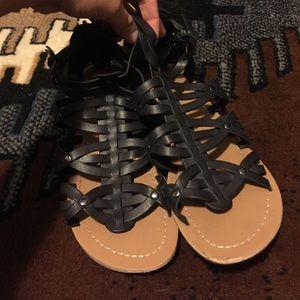 Shoes - JoeBoxer black gladiator sandals