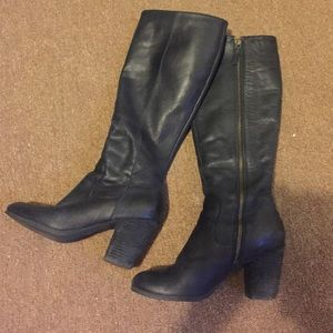 bp. brand blocked heel tall boot