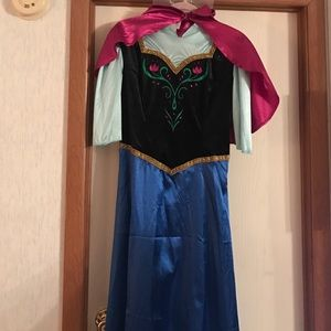 Disney Other - Adult Deluxe Frozen Anna Costume With Wig