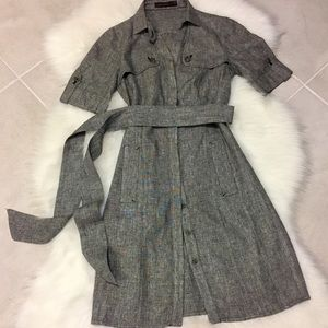 The Limited Dresses & Skirts - Grey / Silver Button-down Dress, size 0