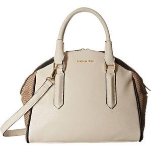 Anise Bag (natural) Snake Color block handbag