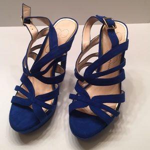 Jessica Simpson Blue Heels size 4