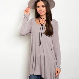 Tops - Jersey Tunic-Lilac