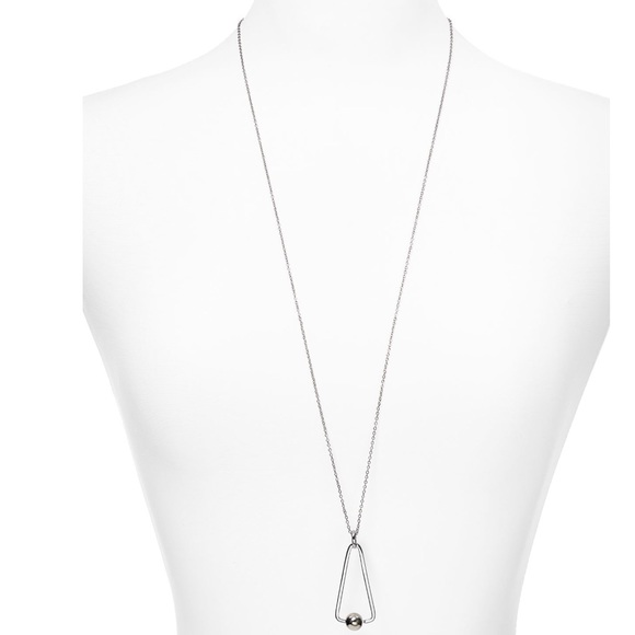 Rebecca Minkoff Jewelry - Silver Geometric Pendant Necklace