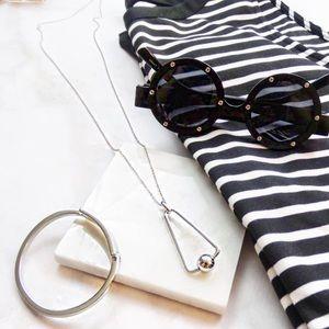 Rebecca Minkoff Jewelry - Silver Geometric Pendant Necklace