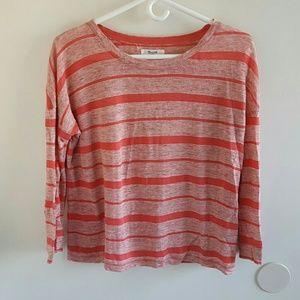 Madewell Striped 3/4 sleeve tee