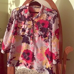 Floral blouse with great fall colors