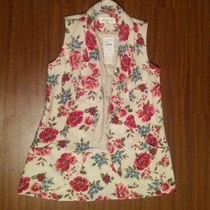 DanielRainn Flower Printed Vest