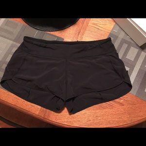 black lululemon shorts--size 10