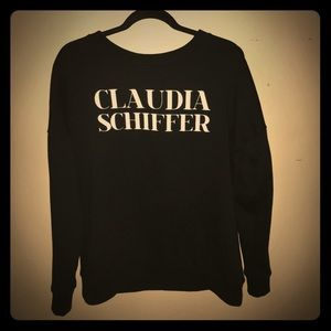 "Zara Sweaters - NWT BLACK ""claudia SCHIFFER"" Sweater Size Small"
