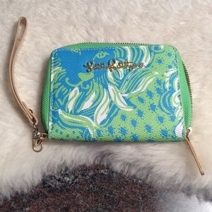 Lilly Pulitzer cell phone/ wallet wristlet