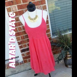 Altar'd State Dresses & Skirts - 🎁SALE NWT Altar'd State Crochet Coral Dress