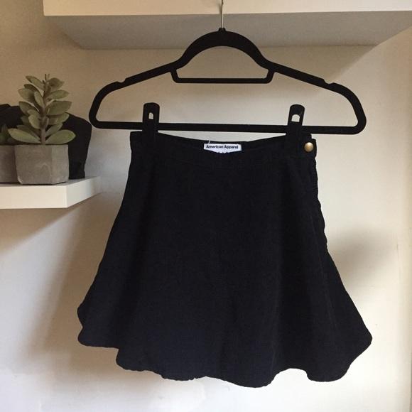 b08b8bc54 American Apparel Skirts | Black Corduroy Circle Skirt | Poshmark