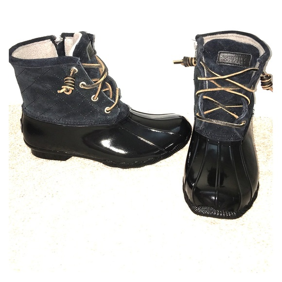 fb21f964445 SPERRY Saltwater Quilted Suede Duck Boot women's