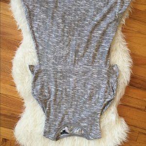 Topshop grey skater dress