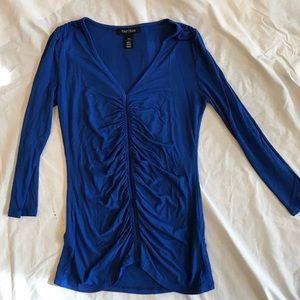 White House Black Market  blue gathered top XXS