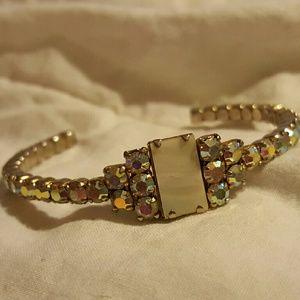Vintage Multi-colored Rhinestone Bracelet Rainbow