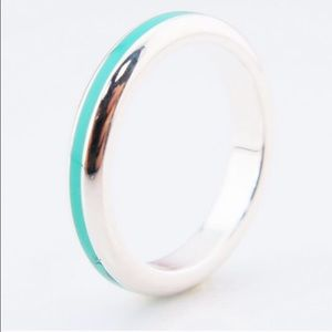Tiffany & Co Sterling Silver Blue enamel ring!