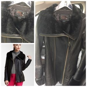 Mackage Shearling leather jacket coat size S Small