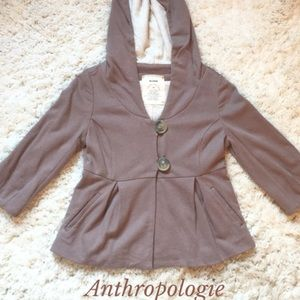 Anthropologie | Peplum Hoodie Sweater Size XS / S