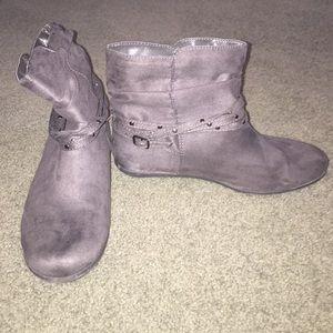 Grey booties, never worn