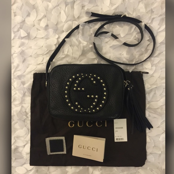 3fcade2f8e8 Gucci Handbags - 💯Authentic Gucci Soho Studded Disco Bag BLK.