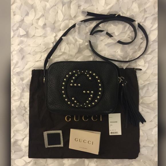 a14b112f308e Gucci Handbags - 💯Authentic Gucci Soho Studded Disco Bag BLK.