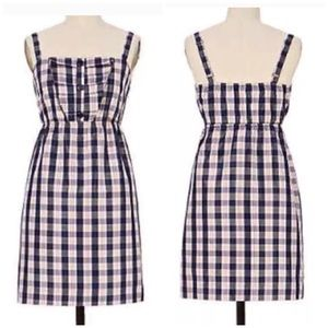 Anthropologie Maeve Plaid Pleated Yoke Dress  -- S