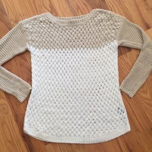 Fever London Sweaters - Fever Colorblock Basket Weave Sweater
