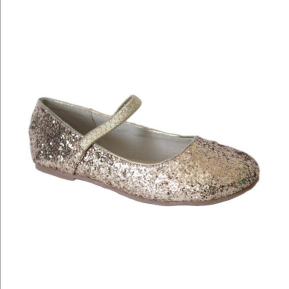 2e625b2b531 Gold glitter Mary Jane girls size