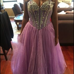 Purple Beaded Gown