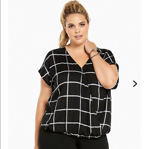 0bf7b428723f torrid Tops | Plaid Surplice Top | Poshmark