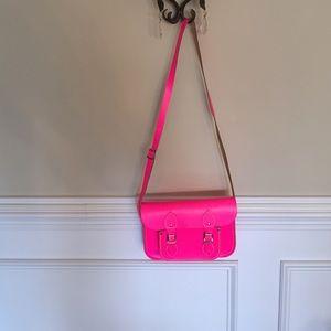 Neon Pink Cambridge Satchel