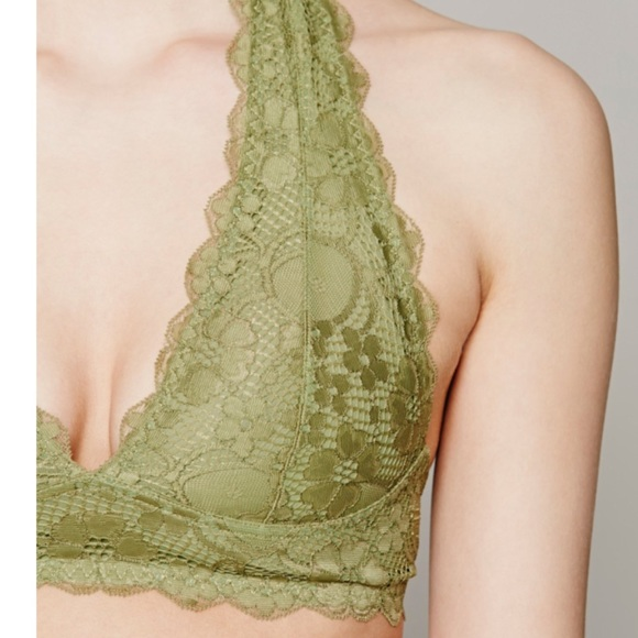 0bea081c099d7 Free People Other - Galloon Lace Halter Bralette in Olive!