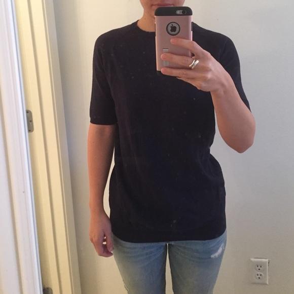 72% off Zara Sweaters - Zara navy short sleeve sweater from Meg's ...